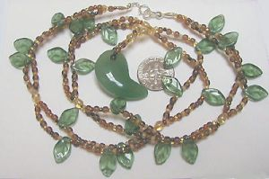 Leafy vine necklace by wombat1138