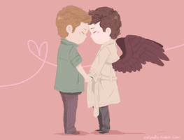 fluffy destiel by shinyunicorntears