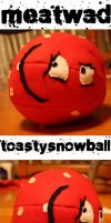 Meatwad Plushie by toastysnowball