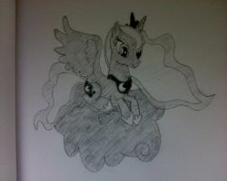Luna Sitting on a Cloud by HeyApplejack