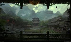 Oriental-temple-w14 by penemenn