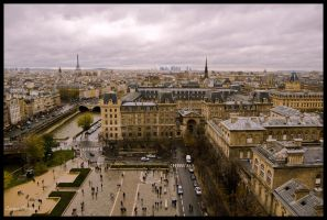 Paris View from Notre Dame by koryna
