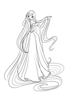 Com: Ella as Rapunzel by LaminaNati
