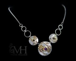 Royal Orb Wedding Necklace by Haskasimo