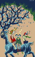 Guardians of the Forest by beezle-tea