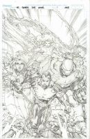 Ultimate Xmen Fantastic Four by ebas
