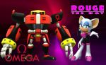 Omega and Rouge - Wallpaper by Knuxy7789