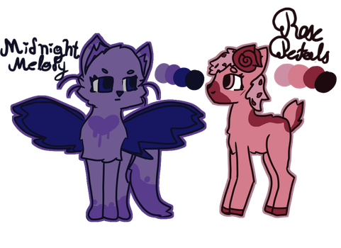 Midnight Melody and Rose Petals by Feline-for-life