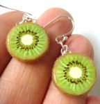 Kiwi Earrings by KawaiiCulture