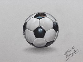 Football (soccer) ball DRAWING by marcellobarenghi
