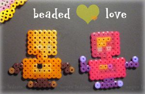 Robotic Beaded Love by MeganTheartist