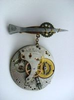 Faet'ch Charm: Lost Time Pin by earthalchemyst