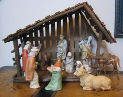 Nativity Scene by GreenEyezz-stock