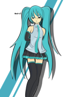 Miku Blue by Noah-x3