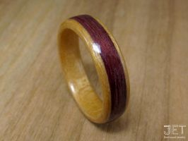 Maple with Purpleheart Inlay Bentwood Ring by JETbentwoodjewelry