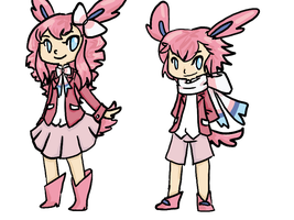 PKMN: Sylveon Gijinka by Sakurara