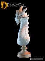 Rock Dragon bust 1 - resin cast by drakoncast