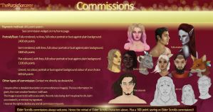 Commissions Pricing List by ThePurpleSorcerer