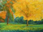 Golden Sail Of The Autumnal Park by AldemButcher