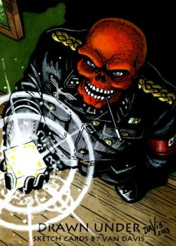 Commission - The Red Skull and the Cosmic Cube by VanDavisArt