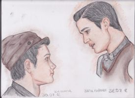 Klaine on the staircase by MaryJane-G