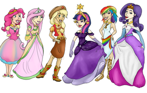 My Little Princesses by MousieDoodles