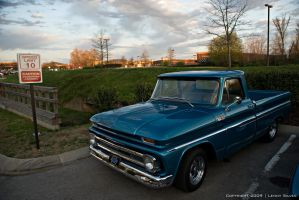 Blue Chevy C10 by dubdeuces388