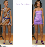 Sims Makeover: Lala Angelista by Soraply11