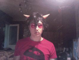 male!terezi cosplay: D34L W1TH 1T 4N1M4T1ON :3 by Dead-Batter