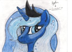 Luna (Facial Sketch) by I-TwistedFury-I