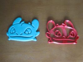Toothless Face Cookie Cutter Test by B2Squared