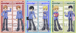 Ouran Bookmarks by voco-artifex