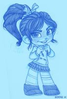 Vanellope - Lines by EddieHolly