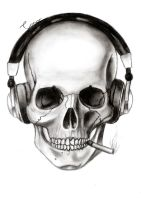Skull And Headphones by Conor332211