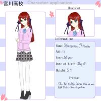 Miyagawa High App: Himegami, Chinami by Reborn-Honeybee