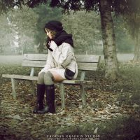 . . . girl on a bench . . . by phoenixgraphixstudio
