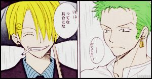 Sanji And Zoro by LadyNoa