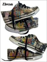 Custom beatles converse by pOisoned-Dream