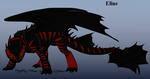 Eline's night fury form by Infernotale