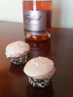Pink Champagne Cupcakes with Cream Cheese Icing by MadameThibodeau