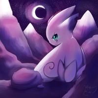On the Moonlit Mountain by honrupi