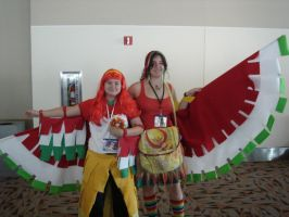 Me with other Ho-oh cosplayer by Ho-ohLover