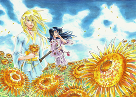 Sunflower Lovers by Tsano