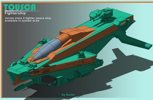 Tousca fightership by DunkZ