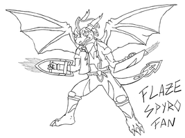 Flaze Trans-Arms lineart by Crimson-Flazey