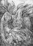 Baalamath's birth (pencil) by hontor