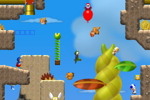 Super Mario World U Beanstalk Ascent by YoshiGo99