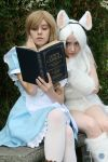 Alice and Dinah Falling Through the Looking Glass by Emmaliene