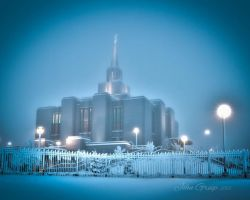 Frosted Calgary Temple by icebiker