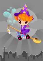 Tutorial: Retro Little Witch by marywinkler